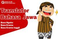 Translator Bahasa Jawa