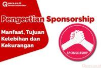 Pengertian Sponsorship